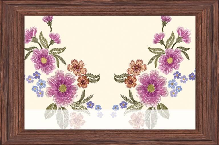 Haft kwiatów